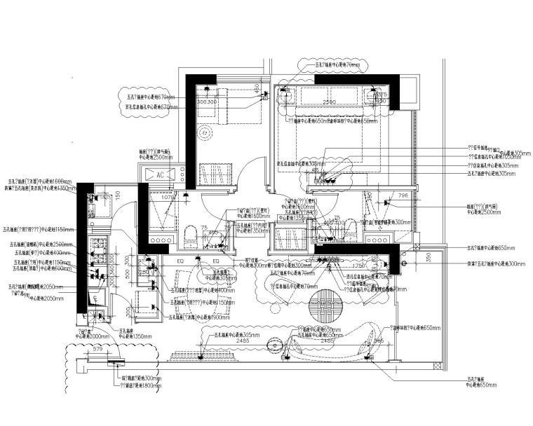 [深圳]华润大涌中式样板间设计方案+施工图+软装方案+物料书+效果图