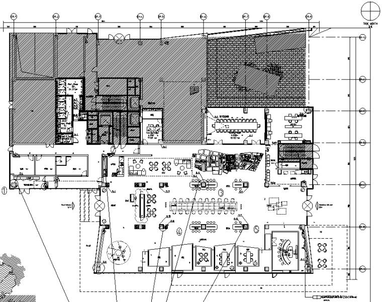 [上海]知名地产御河硅谷售楼空间设计施工图(附效果图+软装方案)-平面布置图