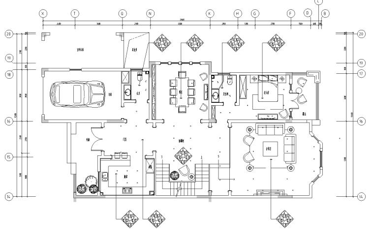 [四川]晋愉二期英伦风格三层别墅样板房施工图