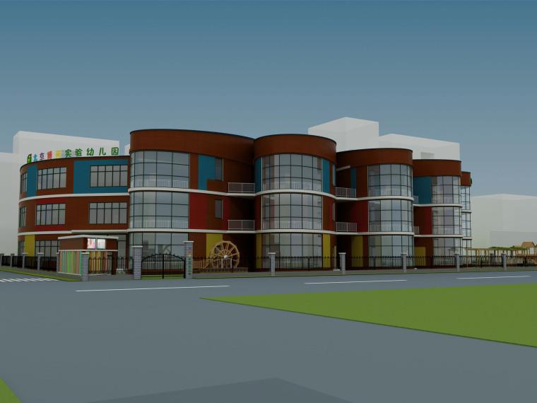[设计素材]幼儿园建筑、外立面、装饰性门头、教室等设计图片|实景照片|效果图