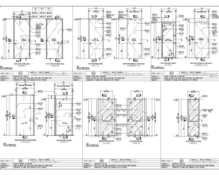[深圳]华润大涌西塔T3公寓入户大堂+3套样板间施工图+物料表_7