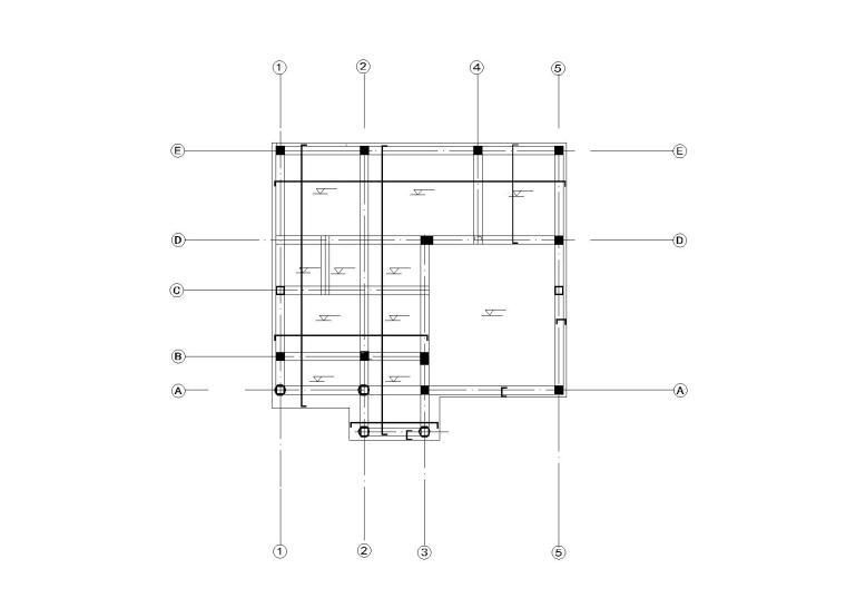 [云南]二层框架结构美丽乡村别墅全套施工图(建筑结构水暖电)