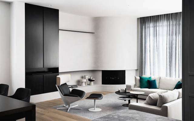 简约灰色调空间,软搭彩色家具更有格调