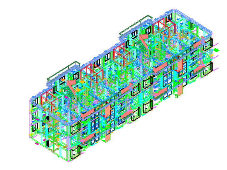武汉高校毕业设计小区住宅BIM建模及计价