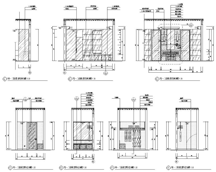 V型滤池平面图剖面图资料下载-[浙江]绍兴某五星级酒店套房室内设计施工图