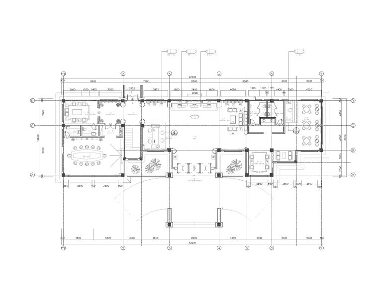 天润曲轴天福山会议中心办公空间深化施工图+高清效果图