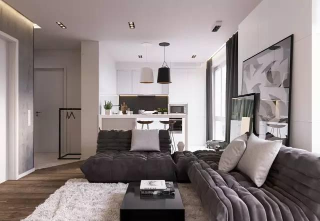66㎡灰色调简约单身公寓