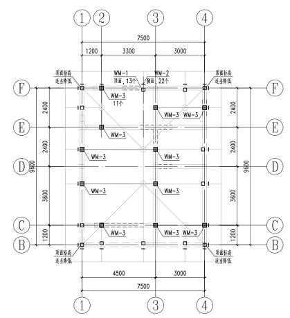 别墅屋面增加坡屋面钢结构施工图