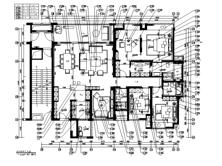 [广东]现代风格样板房施工图(含效果图)