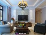 济南中海国际社区装修,中海国际装修110平现代美式风格