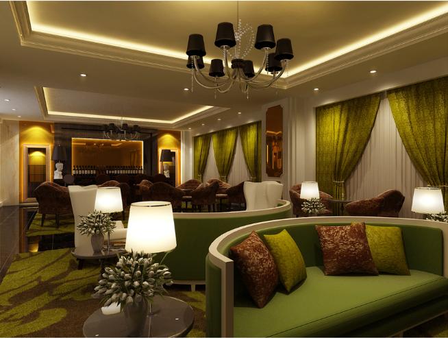 超现代法式餐厅及雪茄吧设计施工图(附效果图)_8