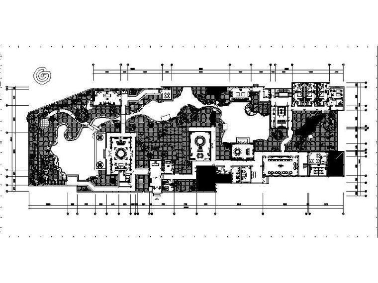 [南京]滨江中式风格会所设计施工图(含效果图)_2