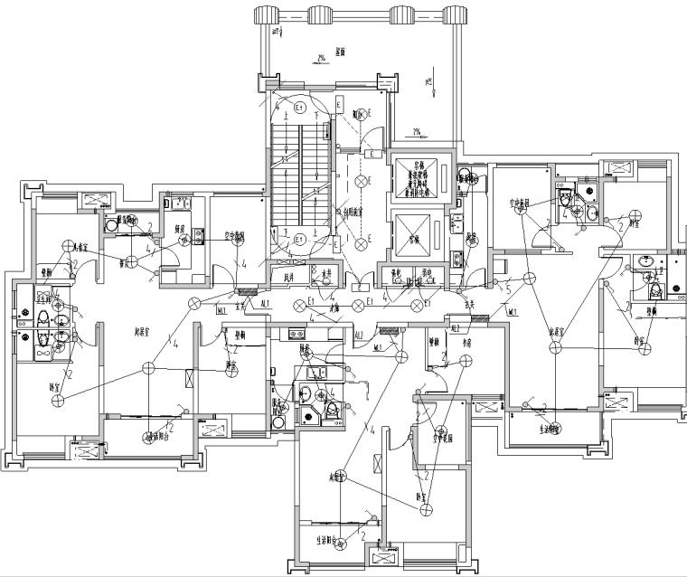 昆山商业住宅项目电气施工图