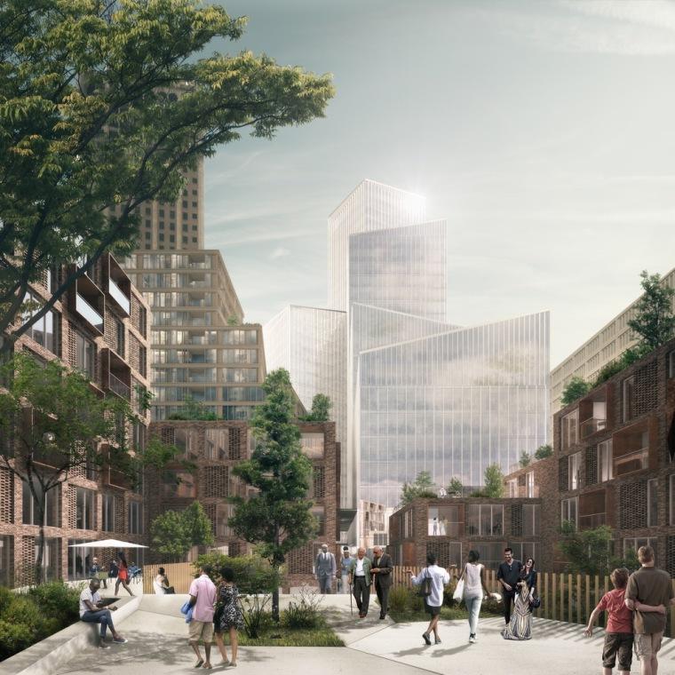 美国底特律地标性城市总体规划-2