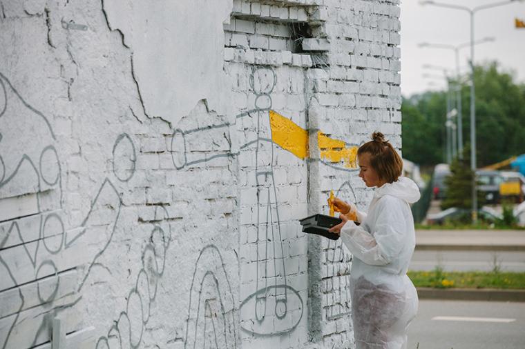 立陶宛房屋外墙上涂鸦景观-7
