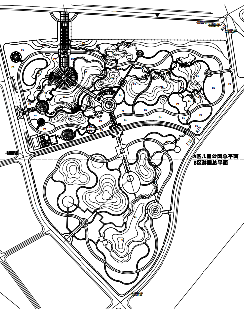 [新疆]滨水山地儿童公园景观设计全套PDF施工图文本