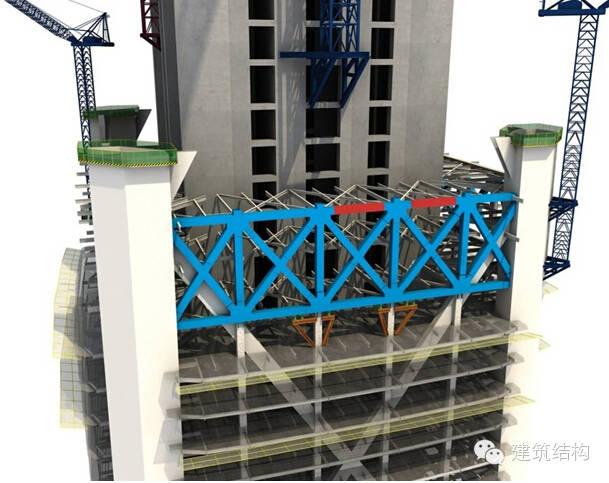 建筑结构丨超高层建筑钢结构施工流程三维效果图_10
