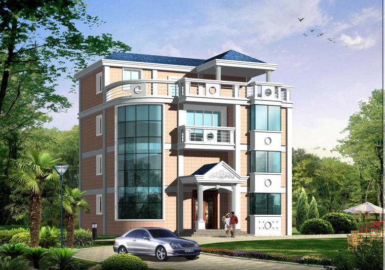 四层单家独院式框架结构别墅设计(包含 CAD+电施+建施+结施+水施)