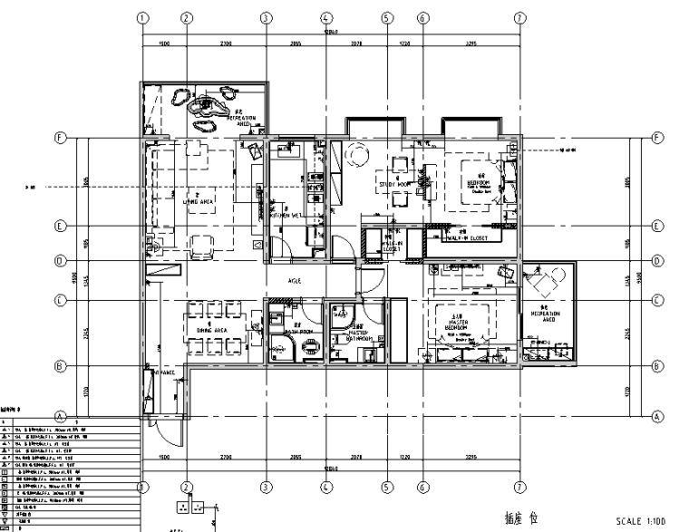 现代简约风二居室住宅设计施工图(附效果图)