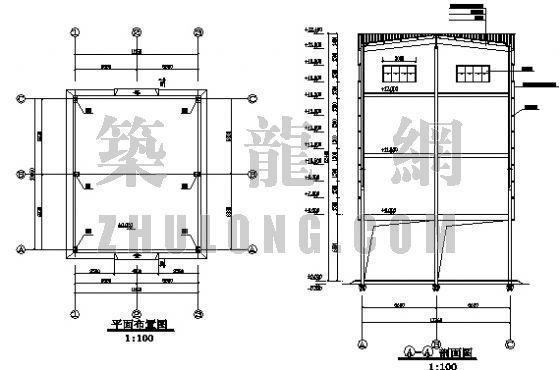 单层钢结构单层饲料加工厂厂房图
