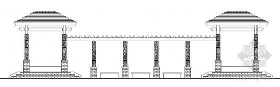 带亭的廊详细施工图