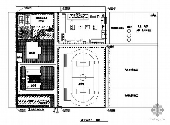体育主题场所景观施工图套图