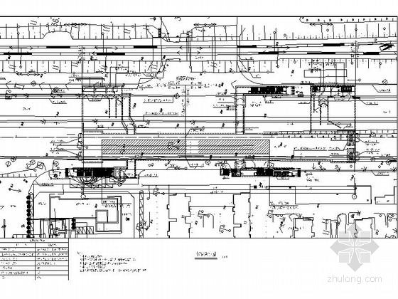 [湖南]现代城市轨道交通地铁车站公共区装修室内设计施工图