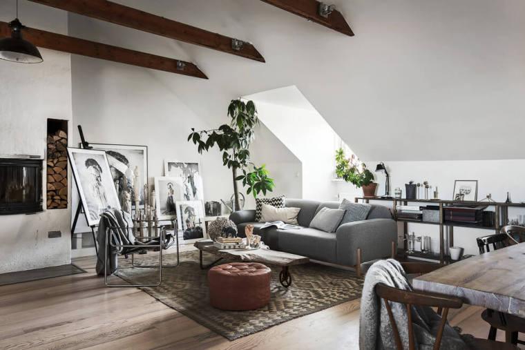 瑞典高格调的阁楼公寓-00