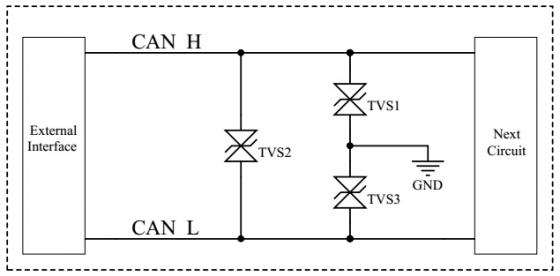 充电桩电源和can接口防护方案电路图
