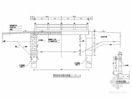 单孔8米装配式农用梁桥施工图