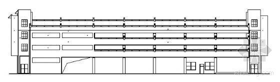 某四层立体车库建筑方案图