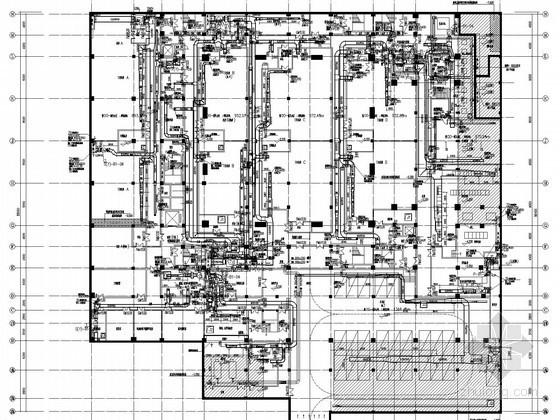 [安徽]博物馆建筑空调及通风排烟系统设计施工图(系统全面)
