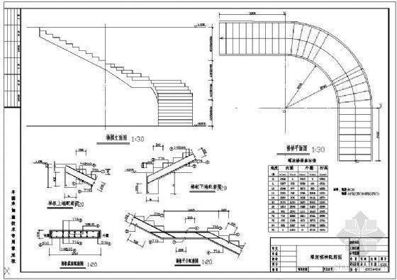 某社会福利服务中心螺旋楼梯详图