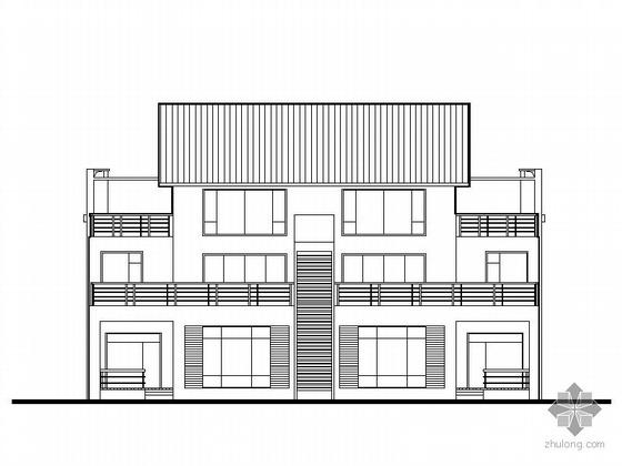 [湖南]某军区两栋三层双拼别墅建筑施工图