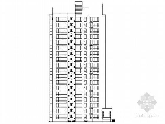 某十八层不对称户型住宅建筑施工图