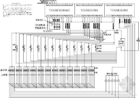 脉冲喷吹PLC接线图