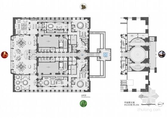 [北京]知名超级豪华七星级酒店室内设计方案图