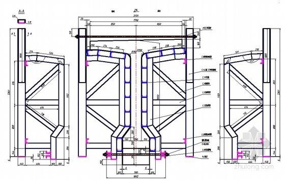 高速公路T梁中梁及台座CAD图纸(平面图 立面图 截面图)