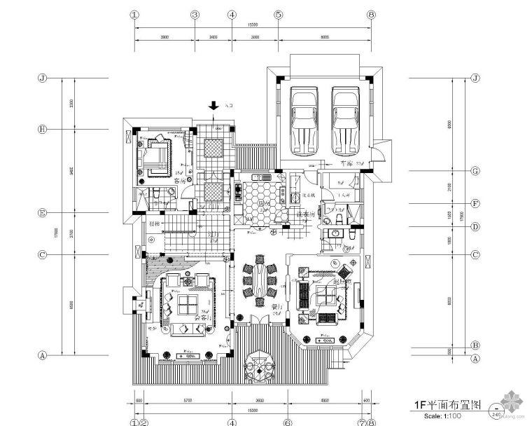 [湖南]某花园别墅装修施工图