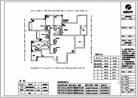 某别墅VRV系统空调平面图