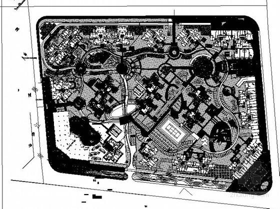 [成都]某小区园林工程总图设计