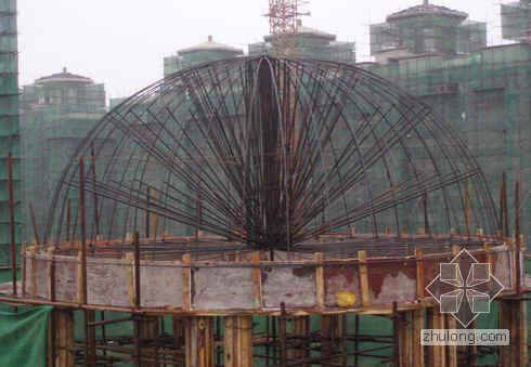 辽宁某球形屋面模板支设施工技术