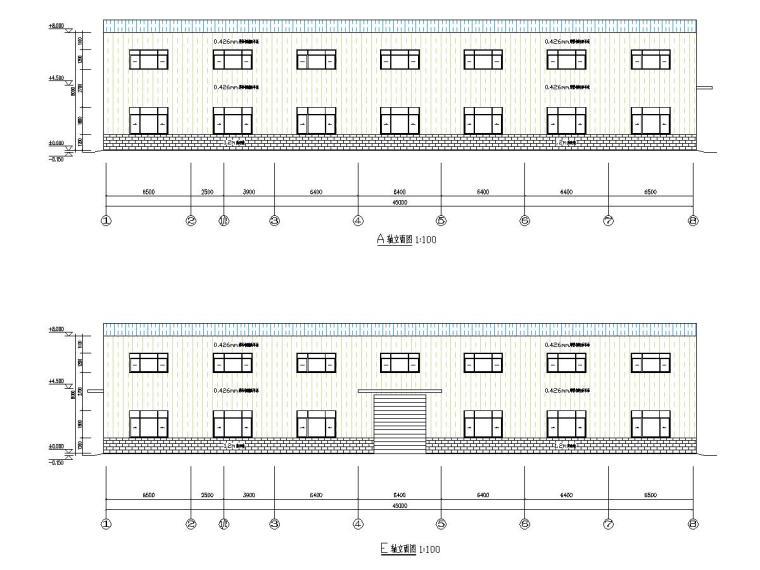 某30m带夹层钢结构生产车间施工图(含建筑施工图)