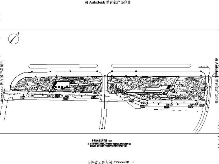 [浙江]省道大路交叉口景观绿化设计施工图(2016年独家最新)-景观给排水总平面图