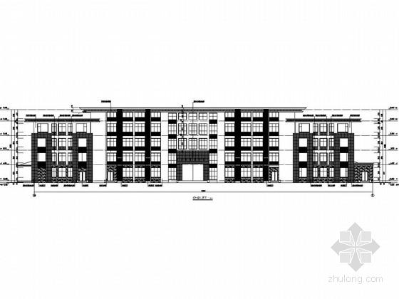 [四川]四层框架结构综合办公楼结构图(含建筑图)