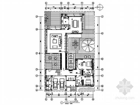 [江苏]低密度住宅小区独栋新中式两层别墅装修施工图