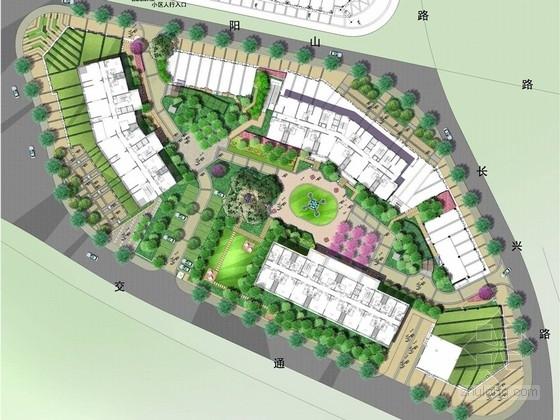 [上海]主城区现代风格居住区地块庭院景观深化设计方案