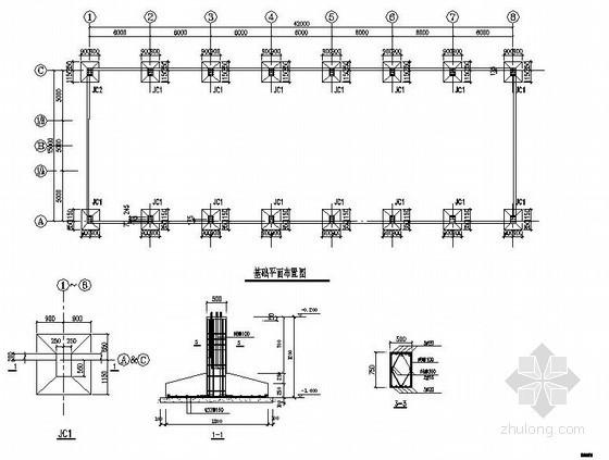 某轻钢结构临建厂房结构施工图