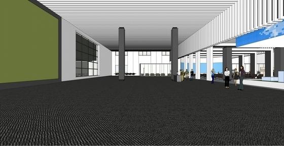 [天津]科技产业技术研究中心现代展厅设计方案贵宾区效果图