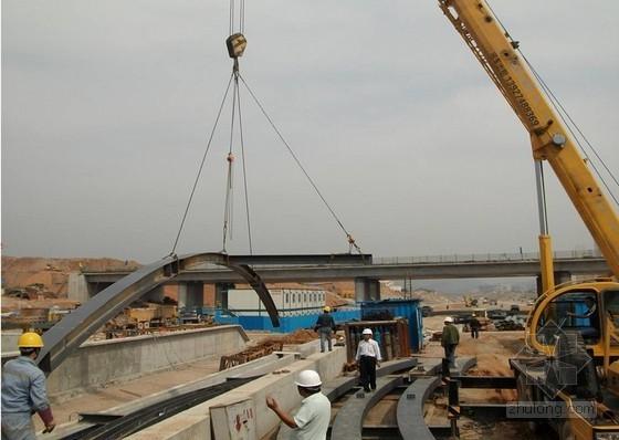大型火车站多连跨钢结构雨棚施工工法(丰富流程照片)